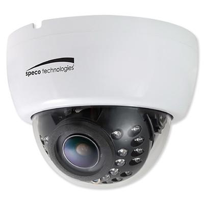 Speco 2MP HD-TVI IR Dome Camera, 2.8-12mm Varifocal Lens, White