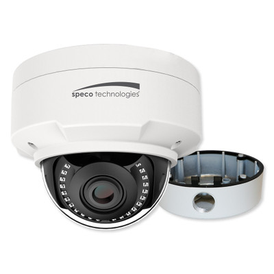 Speco 2MP Dome IP Camera With Junction Box, 2.8-12mm Varifocal Lens
