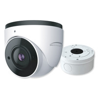 Speco 2MP H.265 IP Turret Camera With Analytics and Junction Box, 2.8mm Fixed Lens