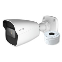 Speco 4MP H.265 IP Bullet Camera With Analytics and Junction Box, 2.8mm Fixed Lens