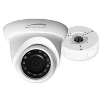 Speco 4MP IP Turret Indoor/Outdoor Camera, 2.8mm Lens with Junction Box