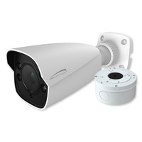 Speco 4MP H.265 IP Bullet Camera With Analytics and Junction Box, 2.8-12mm Motorized Lens