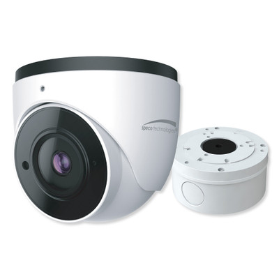 Speco 4MP H.265 IP Turret Camera With Analytics and Junction Box, 2.8mm Fixed Lens