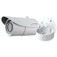 Speco 4K 8MP Bullet IP Camera with Junction Box, 3.3-12mm Motorized Lens