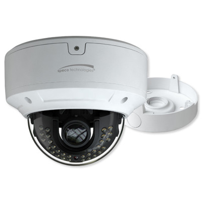 Speco 4K 8MP Dome IP Camera with Junction Box, 3.3-12mm Motorized Lens