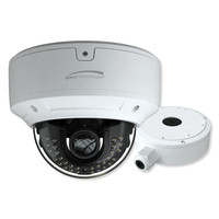 Speco 8MP H.265 IP Dome Camera With Analytics and Junction Box, 2.8-12mm Motorized Lens