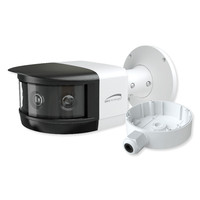 Speco 8MP Panoramic IP Camera with Flexible Intensifier, Analytics and Junction Box