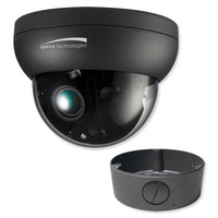 Speco 4K FIT Dome IP Camera, 3.6-11mm Motorized Lens With Junction Box, Dark Grey
