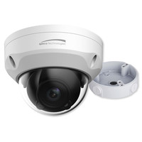 Speco 4K Dome IP Camera With Junction Box, 2.8mm Fixed Lens, White