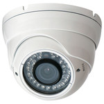 Speco 960H IR Indoor/Outdoor Turret Camera, 700TV, 2.8-12mm, White