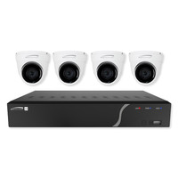Speco Zip Kit: 4-Channel NVR With 4 Dome Cameras, 1TB