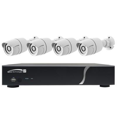Speco HD-TVI Kit: 4-Channel Digital Video Recorder (DVR) with 4 Bullet Cameras