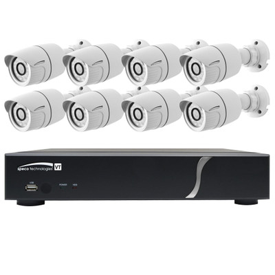 Speco HD-TVI Kit: 8-Channel Digital Video Recorder (DVR) with 8 Dome Cameras