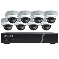 Speco HD-TVI Kit: 8-Channel Digital Video Recorder (DVR) with 4 Dome & 4 Bullet Cameras