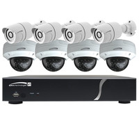 Speco HD-TVI Kit: 8-Channel Digital Video Recorder (DVR) with 4 Bullet Cameras