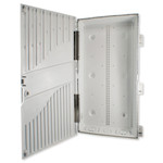 SCP Plastic Enclosure with Plastic Hinged Vented Cover, 28 In.