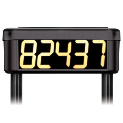 STI Solar Powered Lighted House Number