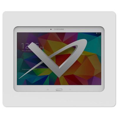 VidaMount Slim On-Wall Tablet Mount for Samsung Galaxy Tab 4 10.1, White