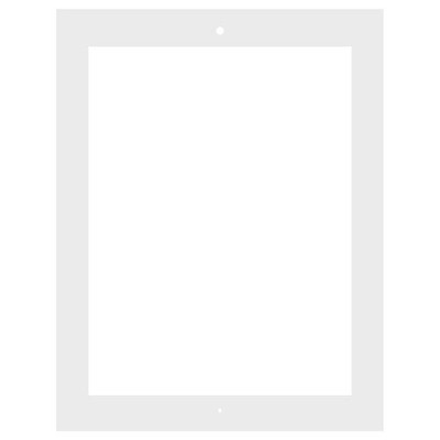 VidaMount Home Button Cover for iPad 2, 3 & 4, White