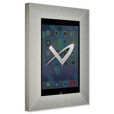 VidaMount Secure Metal On-Wall Tablet Mount for iPad Mini 4, Brushed German Silver