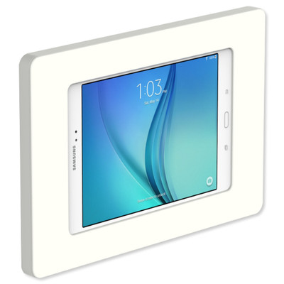 VidaMount Slim On-Wall Tablet Mount for Galaxy Tab A 8.0, White