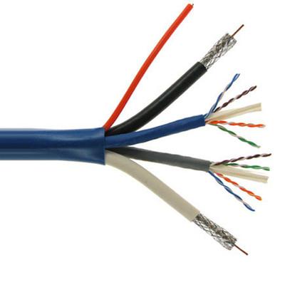 bundled cable (2 rg6 coax, 2 cat6, 2 fiber optic), 500