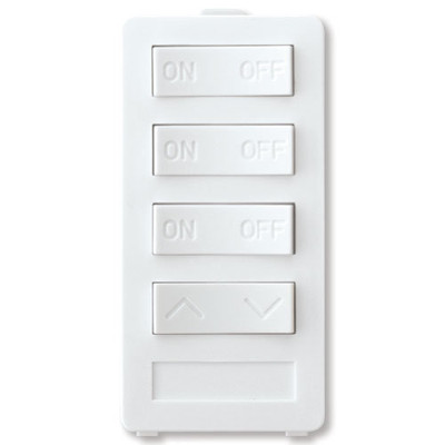 X10 PRO 4-Button Keypad (3 Address & 1 Dimmer), White