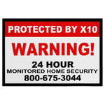 X10 Security Window Sticker