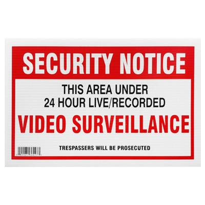 X10 Security Yard Sign