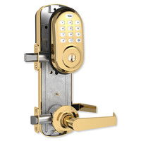 Yale Z-Wave Assure Interconnected Lockset with Push Button Deadbolt, Left Handed, Bright Brass