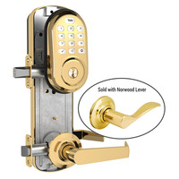 Yale Z-Wave Assure Interconnected Lockset with Push Button Deadbolt, Norwood Lever, Right Handed, Bright Brass