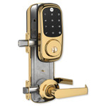 Yale Z-Wave Assure Interconnected Lockset with Touchscreen Deadbolt, Left Handed, Bright Brass