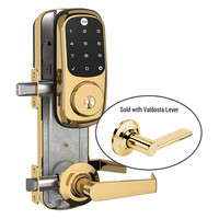 Yale Z-Wave Assure Interconnected Lockset with Touchscreen Deadbolt, Valdosta Lever, Right Handed, Bright Brass
