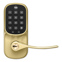 Yale Z-Wave Plus Assure Push Button Keypad Lever Lock, Polished Brass