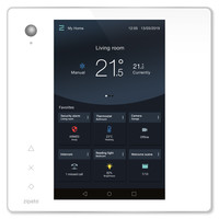 Zipato ZipaTile2 Z-Wave Home Automation Controller, White Touch Panel with Silver Frame